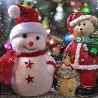 Дед Мороз и Снеговик. :: Елена Kазак