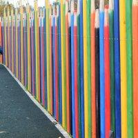Весёлый забор! Дети учатся считать и цвета различать. :: Татьяна Помогалова