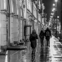 Прохожие мокрого города :: Людмила Волдыкова