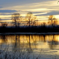 На реке.Закат. :: nadyasilyuk Вознюк
