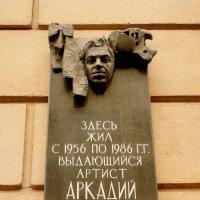 мемориальная доска Райкину А. И в Санкт-Петербурге :: Galina Belugina