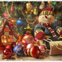 Рождественский  снеговик. :: Елена Kазак