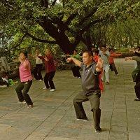 Китайская уличная гимнастика :: Андрей + Ирина Степановы