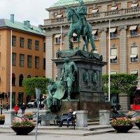 Стокгольм. Памятник – король Густав II Адольф Великий на коне :: Елена Павлова (Смолова)