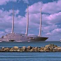 Самая большая  яхта  в мире. :: Ron Леви