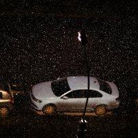 ночной снегопад :: Михаил Бояркин