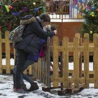 Страстный поцелуй на штакетнике :: Александр Степовой