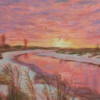река Теша. Восход солнца. Начало зимы. :: Andrey Stolyarenko