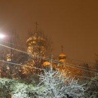 вечер город первый снег :: Вадим Бурмистров