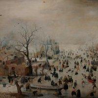 Аверкамп Хендрик. Зимний пейзаж с катаниями на льду, 1608, Рейксмузеум, Амстердам :: Елена Павлова (Смолова)