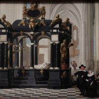 """Дирк ван Делен (1604-1671) """"Семейный портрет у гробницы Вильгельма I  в Новой Церкви в Делфте&q :: Елена Павлова (Смолова)"""