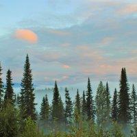 Облака уже окрасились светом восходящего солнца :: Сергей Чиняев