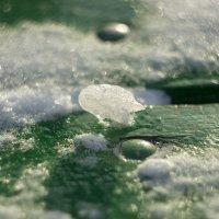 льдинки и снег на скамейке :: Алексей Медведев