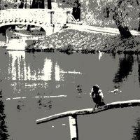 пейзаж с птичкой :: sv.kaschuk