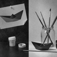 Мой чёрный бумажный кораблик :: Evgeniy Belkov