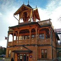 Wooden shop-coffee in Truskavets :: Roman Ilnytskyi
