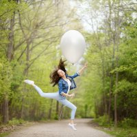 На большом воздушном шаре... :: Anna Shevtsova