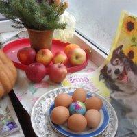 """Новогодний гламурный натюрморт """"Земной шар -  яйцо в южной мошне Бога""""!... :: Алекс Аро Аро"""