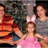 Розовый зайчик с мамой и бабушкой/ :: Anatol Livtsov
