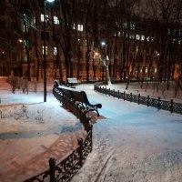 Вечер в Миусском сквере :: Владимир Прокофьев