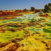 инопланетный пейзаж, кратер вулкана Даллоль :: Георгий А