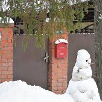 Снеговик-почтальон! :: Татьяна Помогалова