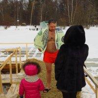 """Крещение-2018 """"А папе не холодно?"""" :: Андрей Лукьянов"""