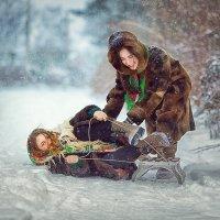 Зимой в деревне :: Roman Sergeev