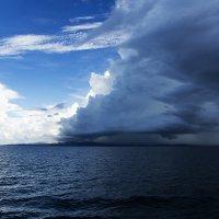 а морем дождь идет... :: Nika Polskaya
