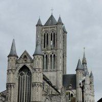 Церковь Св. Николая, за ней башня Белфорт :: Елена Павлова (Смолова)
