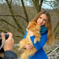 Дама с собачкой. :: Александр Бабаев