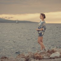 Закат на море... :: Дмитрий Додельцев