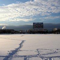 следы на снегу :: Олег Лукьянов