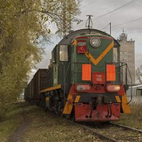 ТЭМ2-1555 на ЖД ветке в г. Бийск по ул. Трофимова :: Иван Зарубин