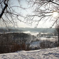 Пойма реки Москвы под храмом Иоанна Предтечи :: Елена Павлова (Смолова)