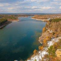 Река Иркут  с высоты птичьего полёта :: Анатолий Иргл