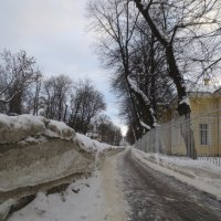 Зимняя улица в Пушкине :: Елена