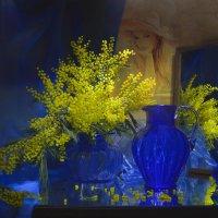 Лишь только желтые мимозы... :: Валентина Колова