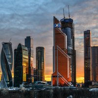 закат на Москва Сити :: Георгий