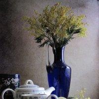 Чаепитие в сине - желтых тонах :: Наталия Тихомирова