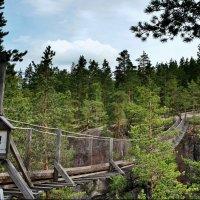 Подвесной мост над заливом Лапинсалми (Lapinsalmi) :: Елена Павлова (Смолова)