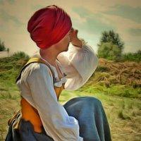Портрет девушки в костюме ремесленника 17 века :: Наталья Ильина