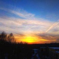 Морозный закат. :: Екатерррина Полунина