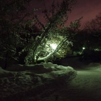 """фонарь-зима-небо  """"вечер 10.02.18"""" :: Kriss Ампар"""