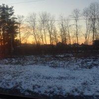 Заход солнца :: татьяна