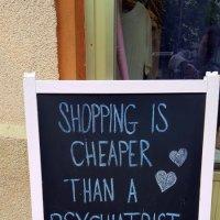 Шопинг дешевле чем психолог;-) :: Olga