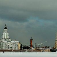 Кунсткамера,стрелка,Дворцовый мост. :: Юрий Слепчук