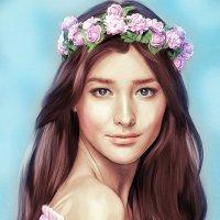 Liza Soberano. Портрет по фото :: Лариса Соколова