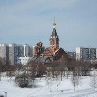 Строящийся храм :: Людмила Монахова