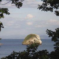 Скала-остров в Десантной бухте, Уссурийский залив. :: Александр Иванов